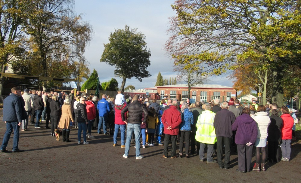 Residents attending the Remembrance Service
